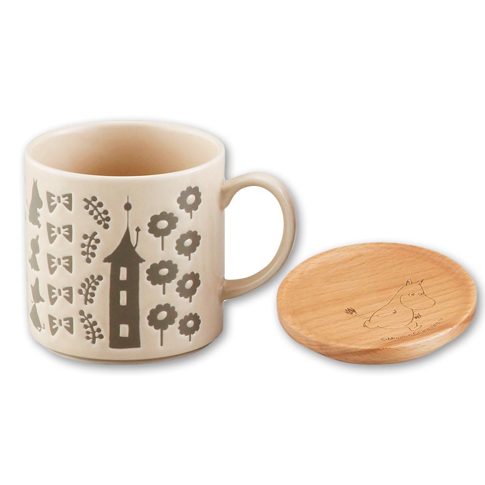 yamaka|MOOMIN嚕嚕米背影系列-嚕嚕米馬克杯+杯墊蓋