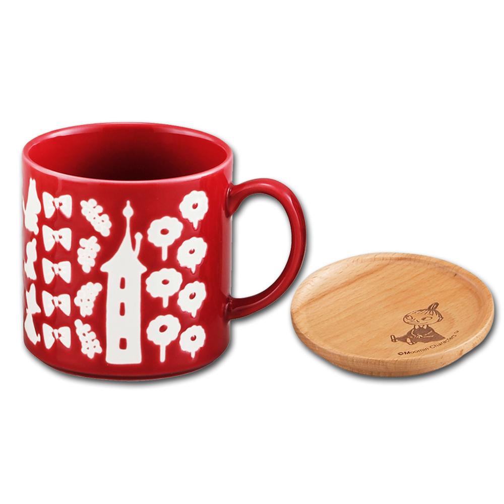 yamaka|MOOMIN嚕嚕米背影系列-小不點馬克杯+杯ˋ墊蓋