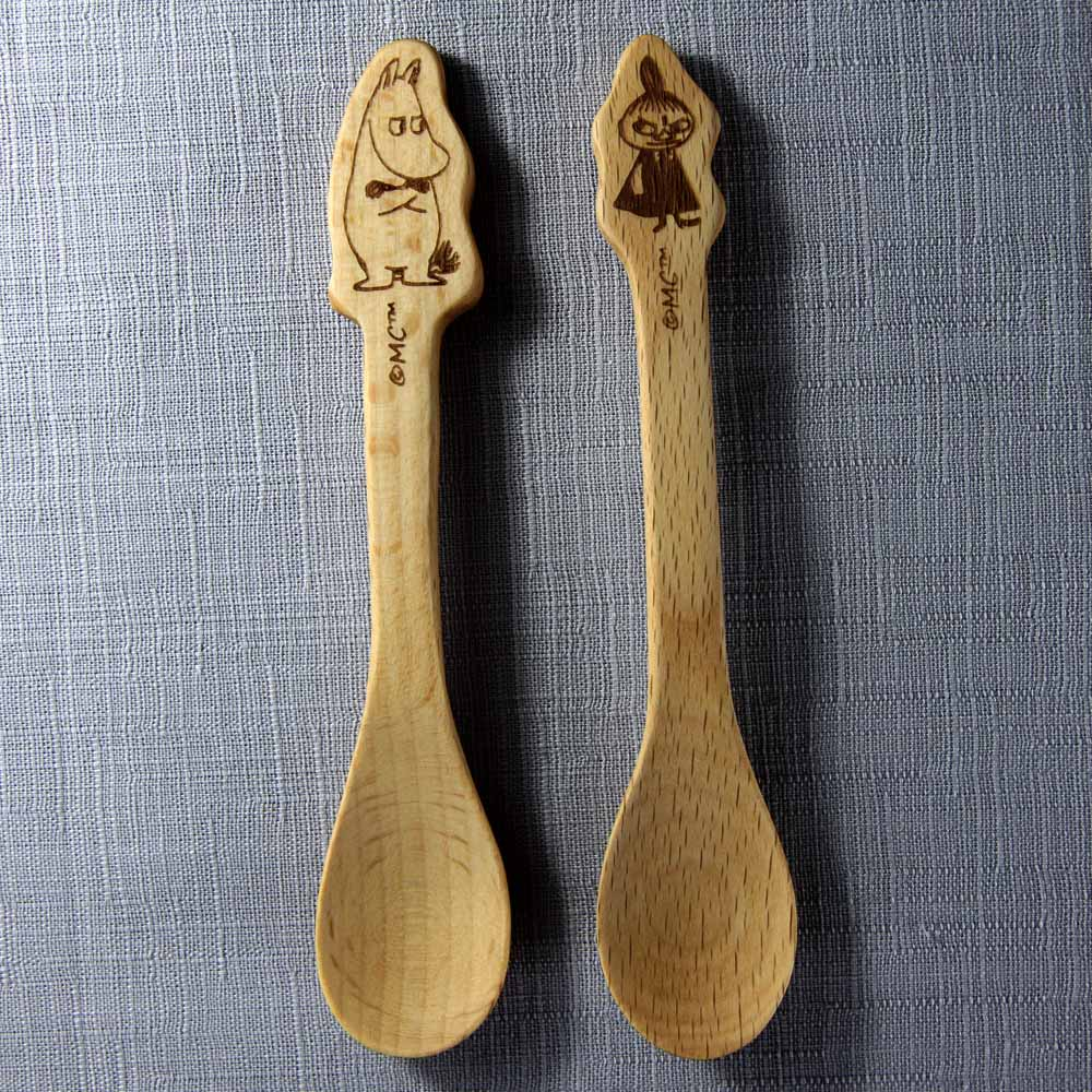 yamaka|MOOMIN嚕嚕米天然木系列-嚕嚕米&小不點咖啡勺
