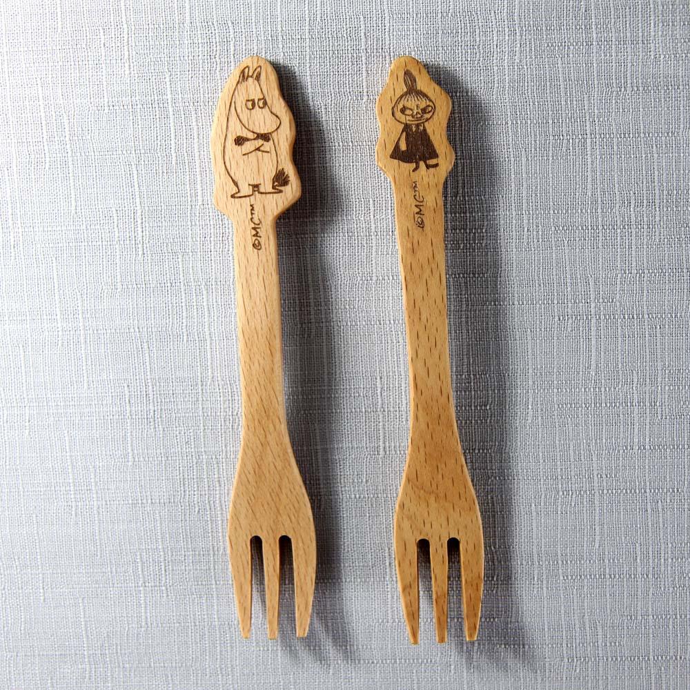 yamaka|MOOMIN嚕嚕米天然木系列-嚕嚕米&小不點叉子