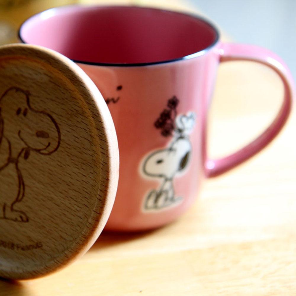 yamaka|SNOOPY史努比季節系列馬克杯+杯/墊蓋(春天)