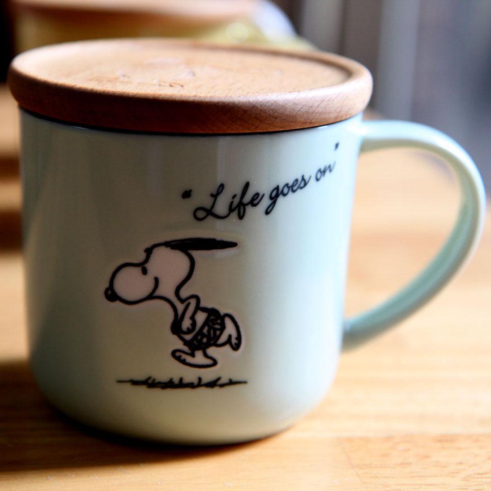 yamaka|SNOOPY史努比季節系列馬克杯+杯/墊蓋(夏天)