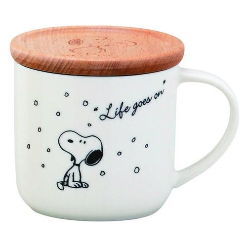 yamaka|SNOOPY史努比季節系列馬克杯+杯/墊蓋(冬天)
