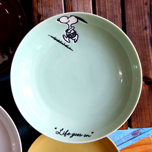yamaka|SNOOPY史努比季節系列4入深盤21cm