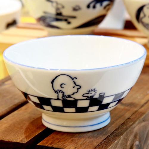 yamaka|SNOOPY史努比和風藍系列飯碗(Kiss)11.5cm