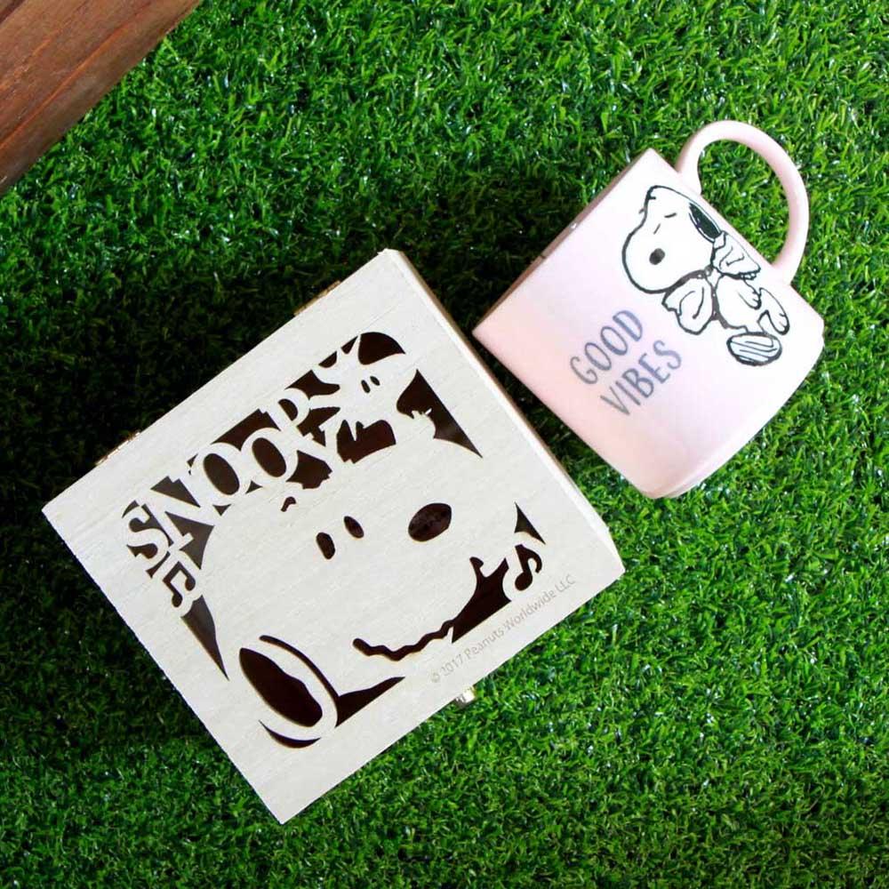 yamaka|SNOOPY史努比情誼系列馬克杯(Good Vibes)含木盒