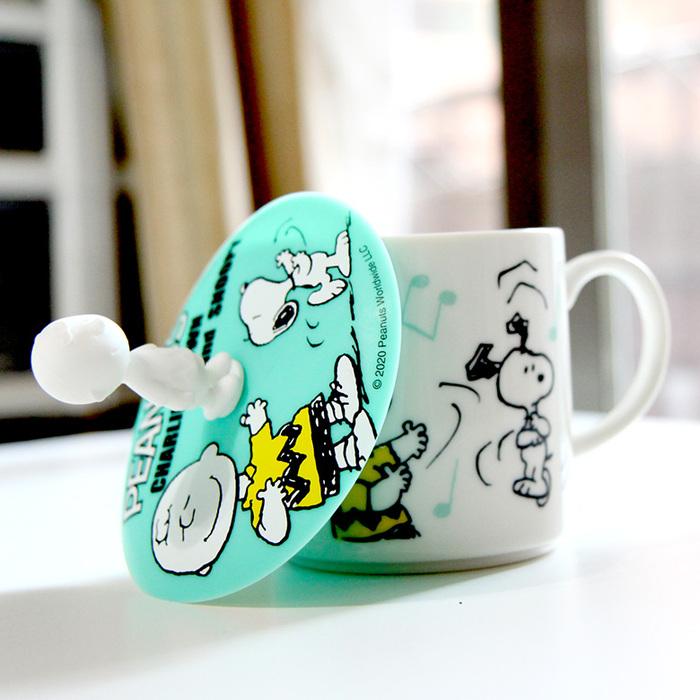 (複製)yamaka|SNOOPY史努比和樂系列馬克杯+杯蓋(友情)