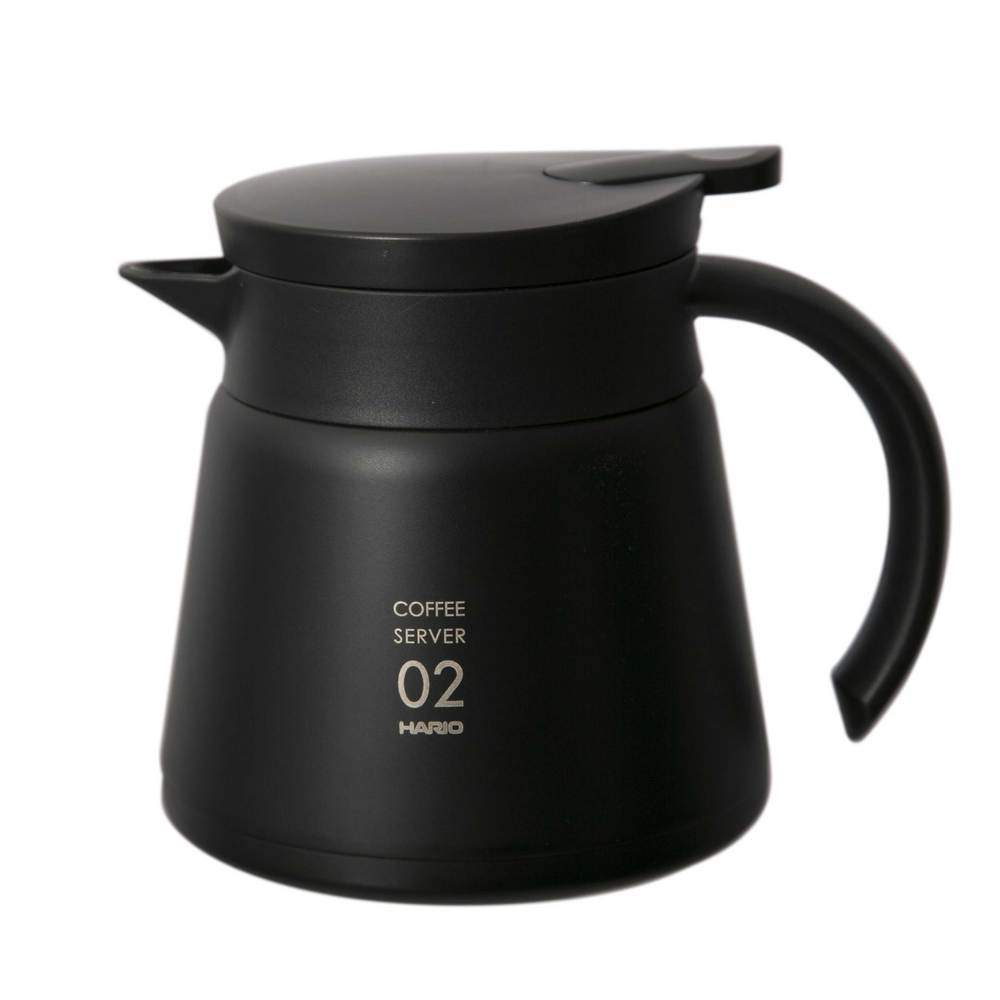 HARIO|真空不銹鋼咖啡保溫壺  VHS-60B  時尚黑