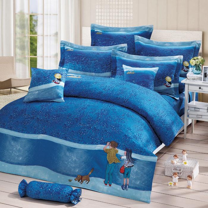 (複製)Kidult|忘記親一下 海洋男孩 被單床包組 - 雙人加大