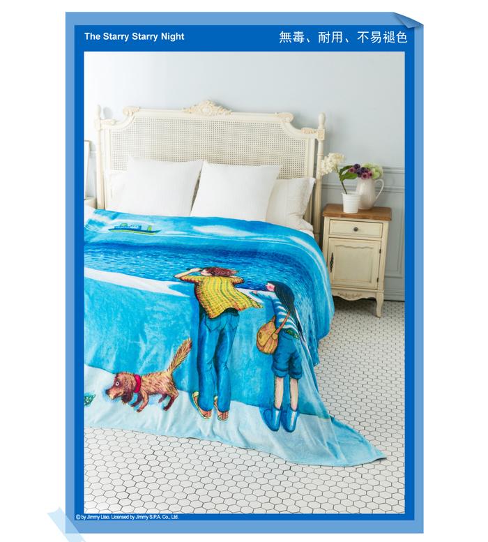 (複製)Kidult|草地談天法  數位印染  法蘭絨 四季毯