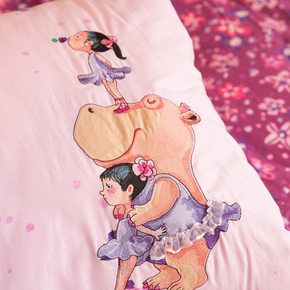 Kidult|向春天的下午 春天小芭蕾 兩用被床包組 - 雙人