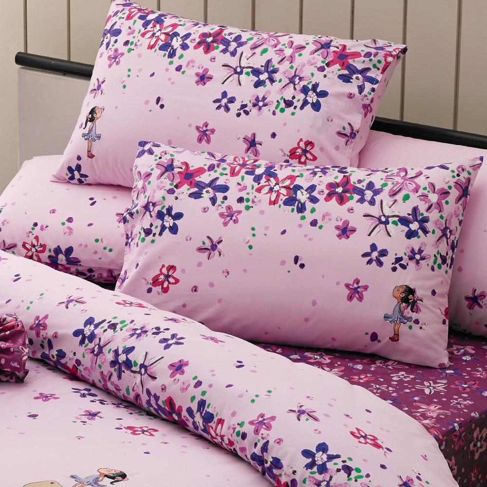 Kidult|向春天的下午 春天小芭蕾 兩用被床包組 - 雙人加大