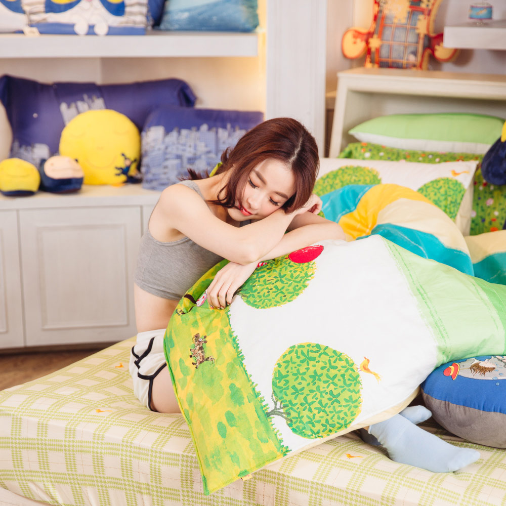 Kidult|照相本子 派對女孩 兩用被床包組 - 單人