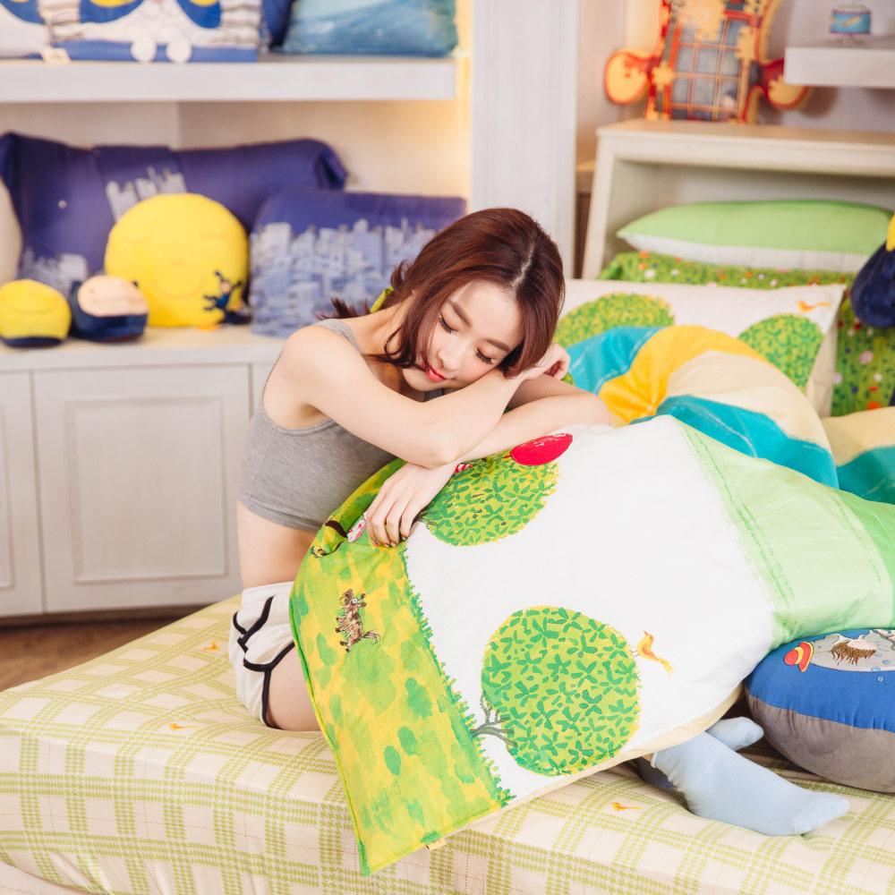 Kidult|照相本子 派對女孩 兩用被床包組 - 雙人加大
