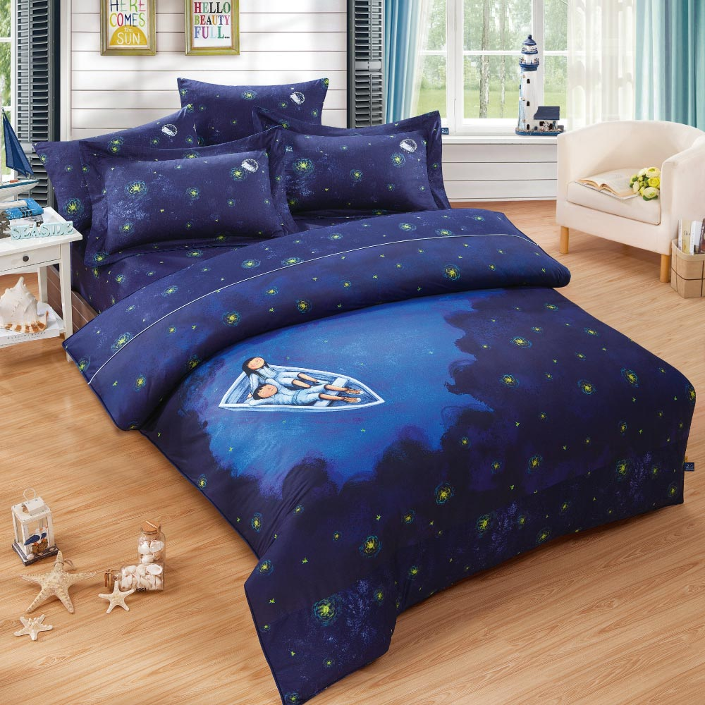 Kidult|星空 滿天星 20週年 兩用被床包組 - 雙人