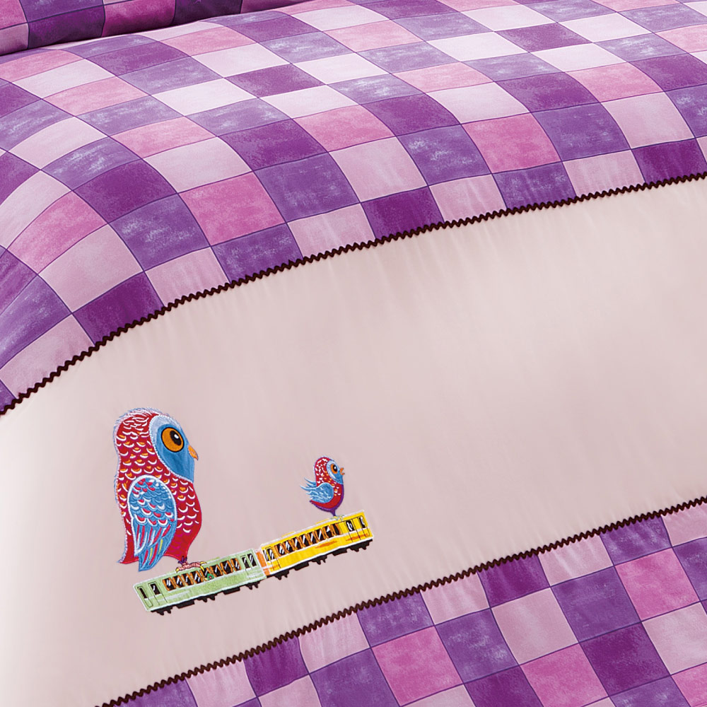 Kidult|忘記親一下 親親貓頭鷹 兩用被床包組 - 雙人加大