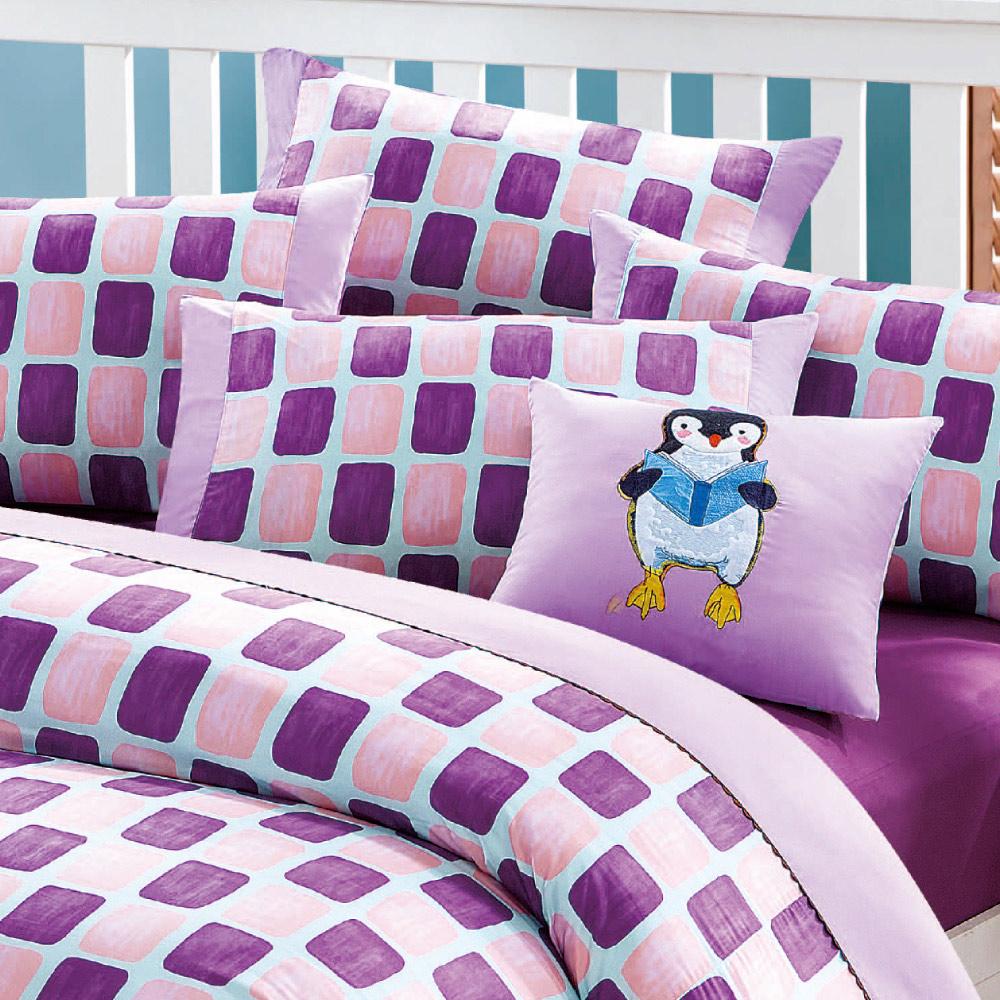 Kidult|忘記親一下 親親企鵝 兩用被床包組 - 單人