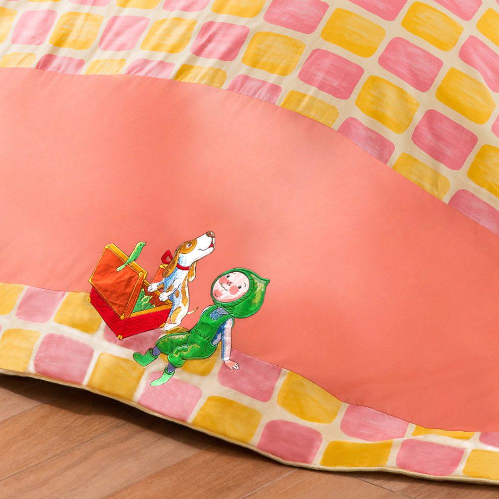 Kidult 忘記親一下 旅行男孩 兩用被床包組 - 雙人