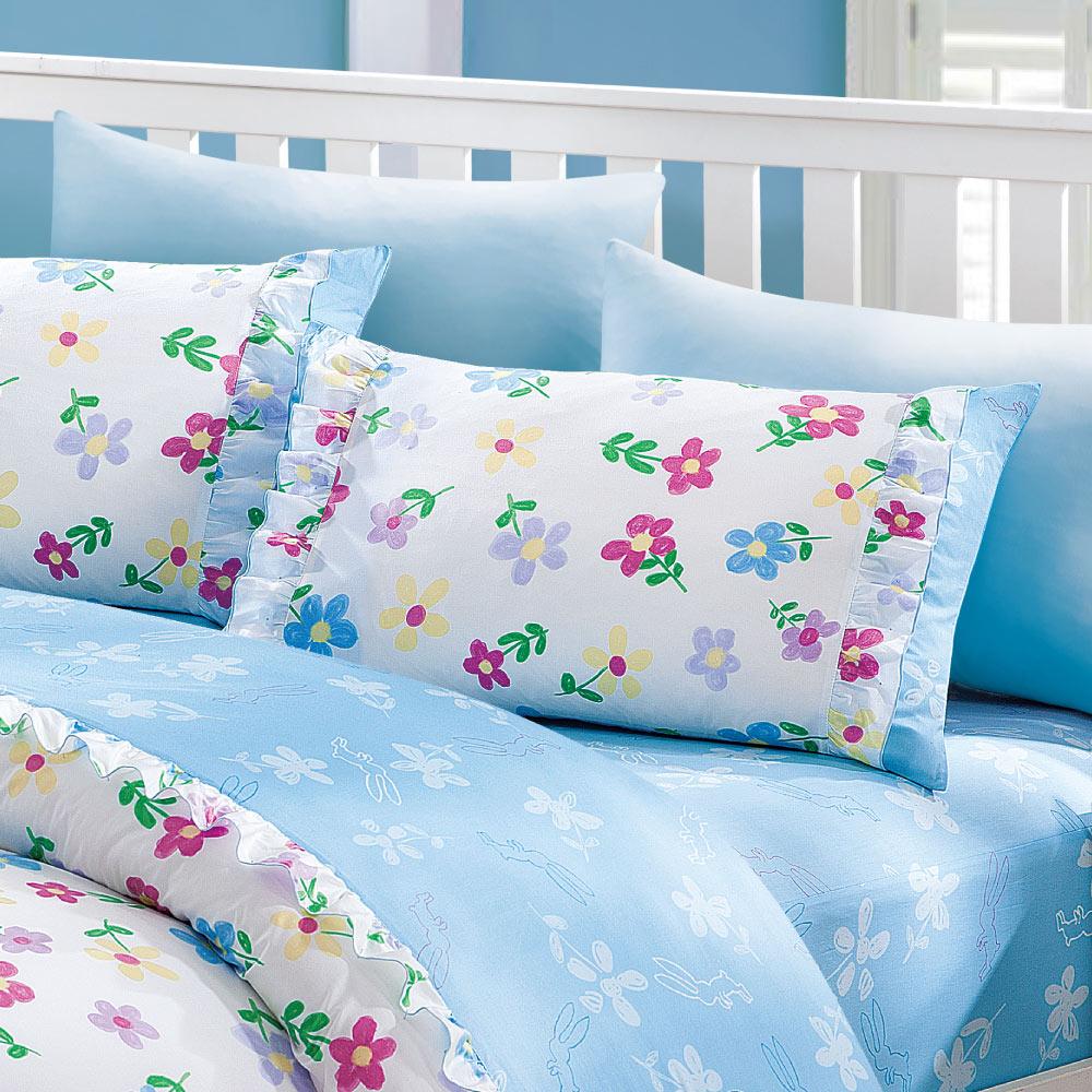 Kidult|我的錯都是大人的錯 小兔花園 兩用被床包組 - 雙人加大
