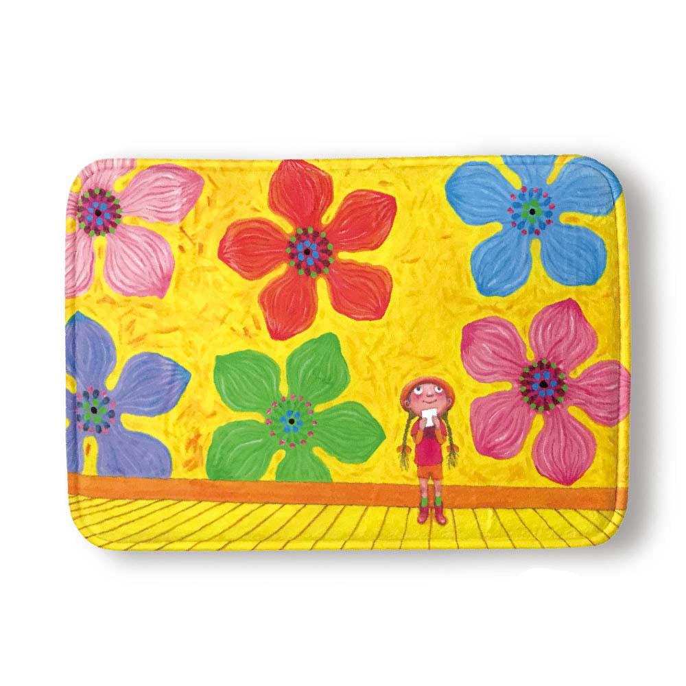 Kidult|只能為你畫一張小卡片  花樣女孩  抗菌吸水釋壓 腳踏墊