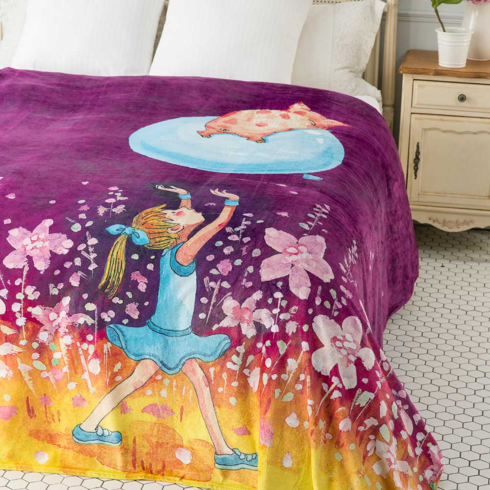 Kidult 我的錯都是大人的錯  數位印染  法蘭絨 四季毯