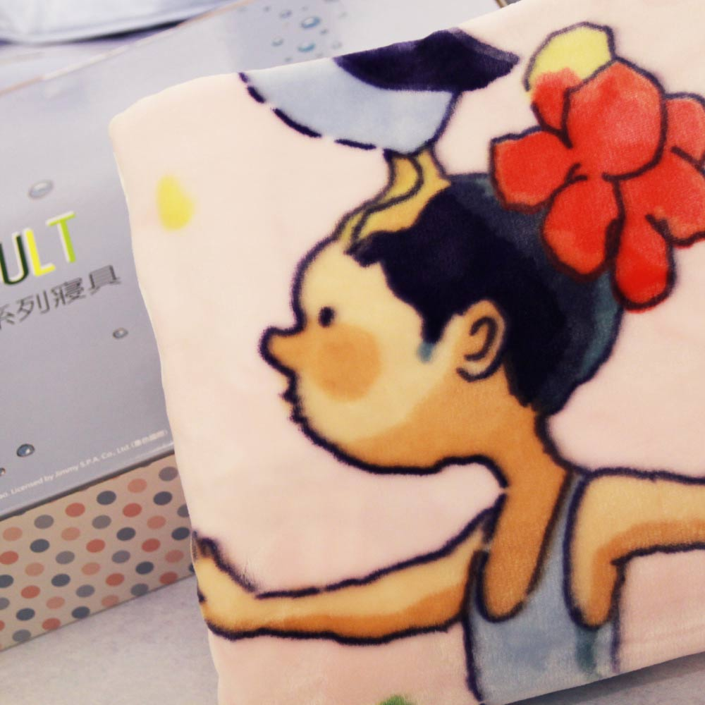 Kidult 企鵝女孩  雙層 法蘭絨 四季童毯