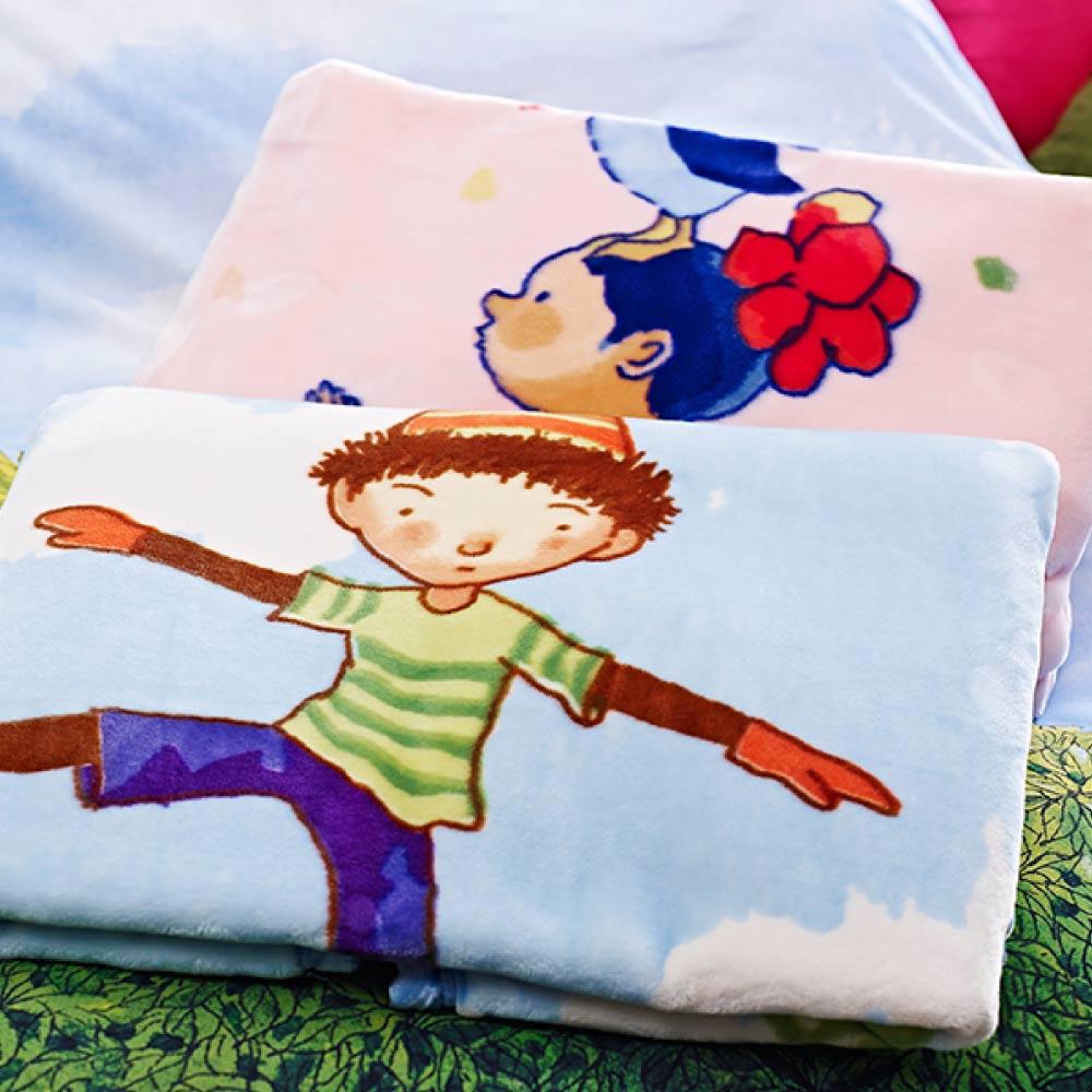 Kidult|氣球男孩  雙層 法蘭絨 四季童毯