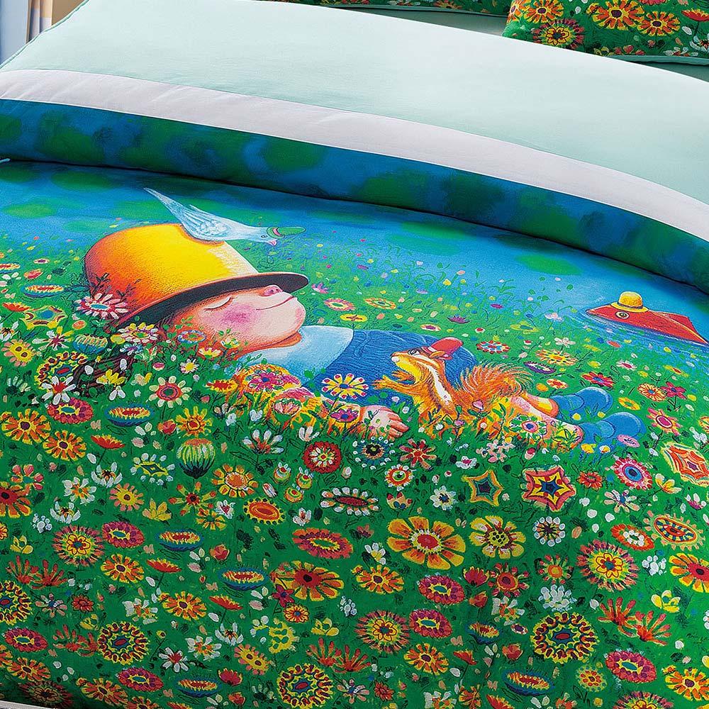 Kidult|閉上眼睛一下下 草地幻想 被單床包組 - 雙人加大