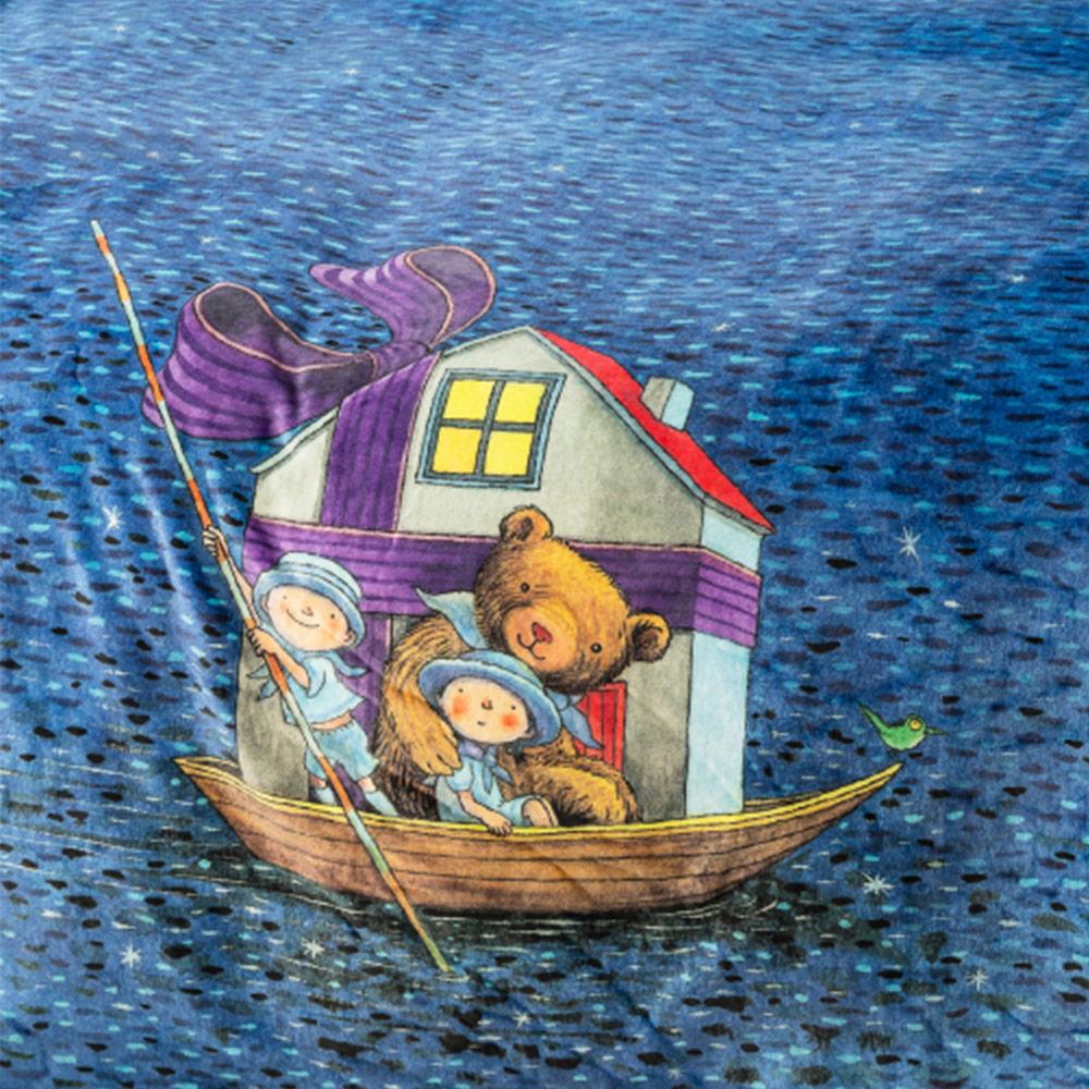 Kidult 小熊與船  雪柔毯 + 20周年限量冬藏精裝禮盒
