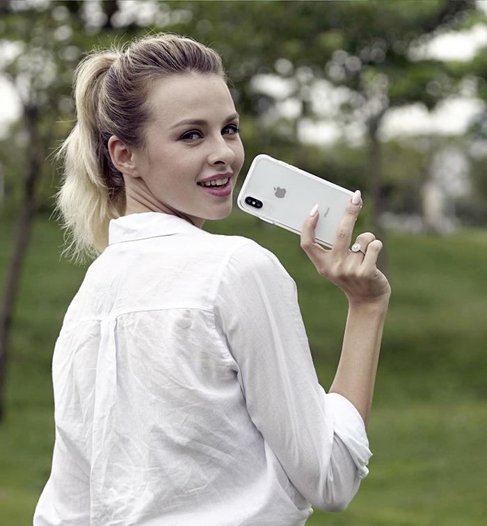 VOKAMO|Smult 美國軍規3米防摔晶透手機殼 iPhone 7 Plus/8 Plus (5.5吋) 專用 -透明強化背蓋(黑邊)