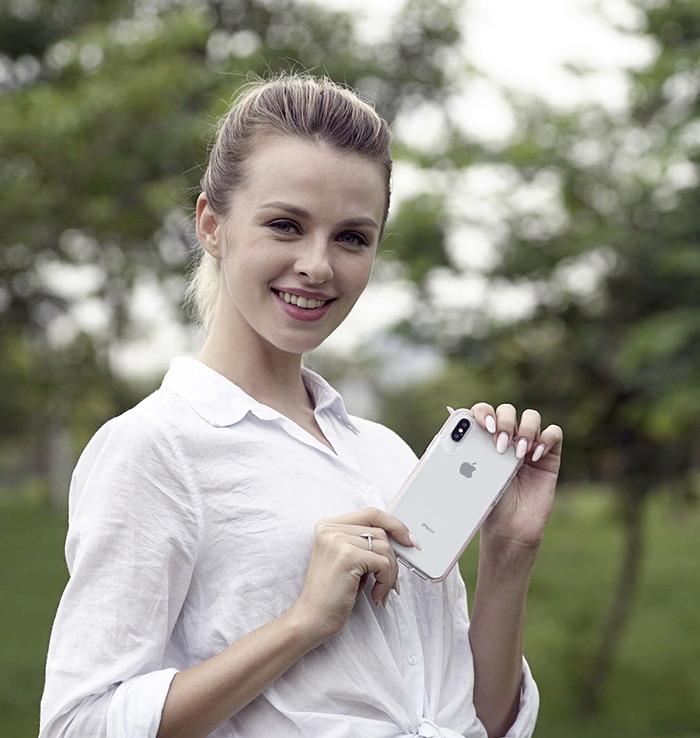 (複製)VOKAMO|Smult 美國軍規3.05米防摔晶透手機殼 iPhone XS Max (6.5吋)專用 -透明強化背蓋(白)