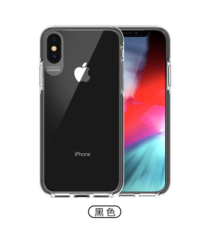 VOKAMO|Smult 美國軍規3.05米防摔晶透手機殼 iPhone XS Max (6.5吋)專用 -透明強化背蓋(白)