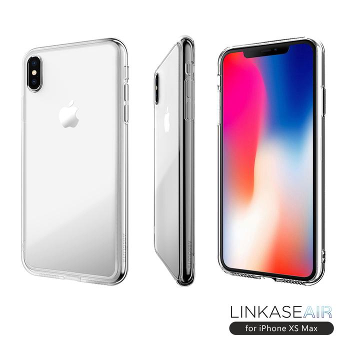 ABSOLUTE|LINKASE AIR iPhone XS Max(6.5吋)專用 美軍規防摔認證9H大猩猩康寧玻璃保護殼 透明邊框