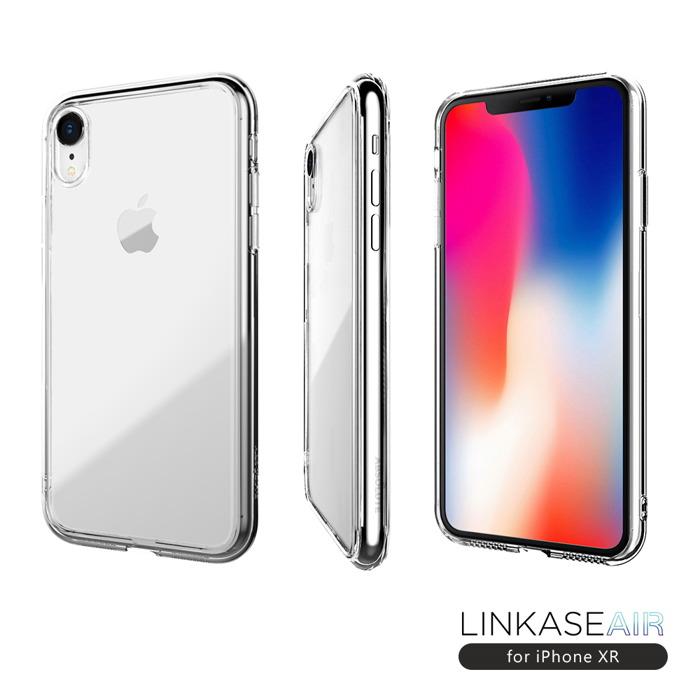 ABSOLUTE|LINKASE AIR iPhone XR(6.1吋)專用 美軍規防摔認證9H大猩猩康寧玻璃保護殼 全透明邊框