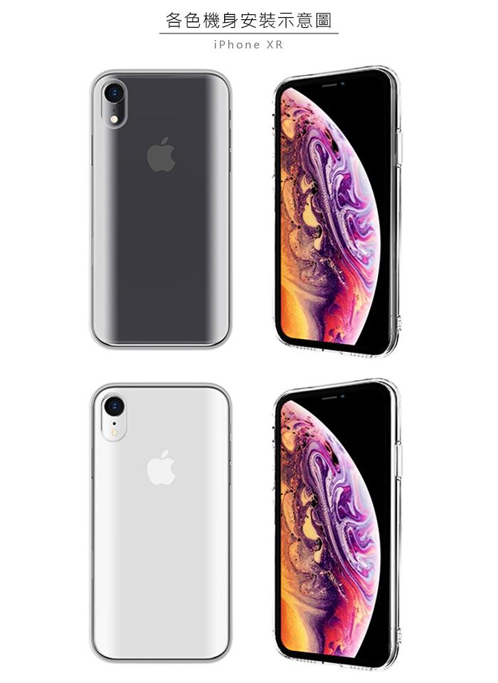 ABSOLUTE|LINKASE PRO iPhone XR(6.1吋)專用 美軍規防摔抗震9H大猩猩康寧曲面玻璃保護殼 全透明