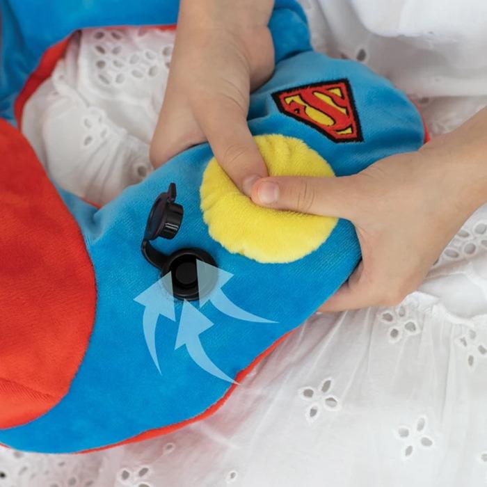 Travelmall DC正義聯盟授權兒童專用手動按壓式充氣枕-SUPERMAN超人