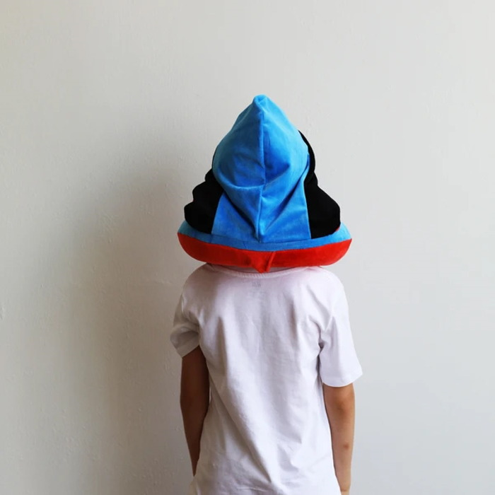 Travelmall|DC正義聯盟授權兒童專用手動按壓式充氣連帽枕-SUPERMAN超人