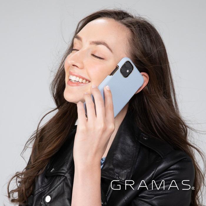 GRAMAS|東京職人工藝iPhone 11 (6.1吋)專用 時尚掀蓋式皮套手機殼-Shrink系列(黑)
