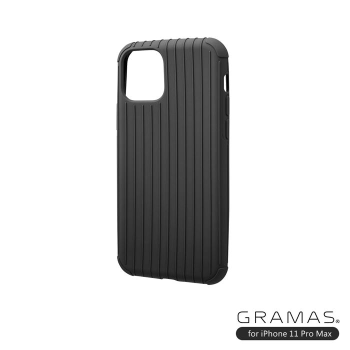 (複製)GRAMAS 東京職人工藝iPhone 11 (6.1吋)專用 耐衝撃羽量級行李箱手機殼-Rib Light系列(黑)