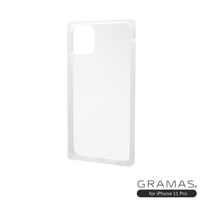 GRAMAS 東京職人工藝iPhone 11 Pro (5.8吋)專用 防摔認證9H鋼化玻璃透明冰晶方形手機殼