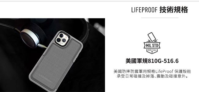 (複製)LIFEPROOF|iPhone 11 (6.1吋)專用 隱藏收納卡套式防摔手機保護殼-FLiP(黑)