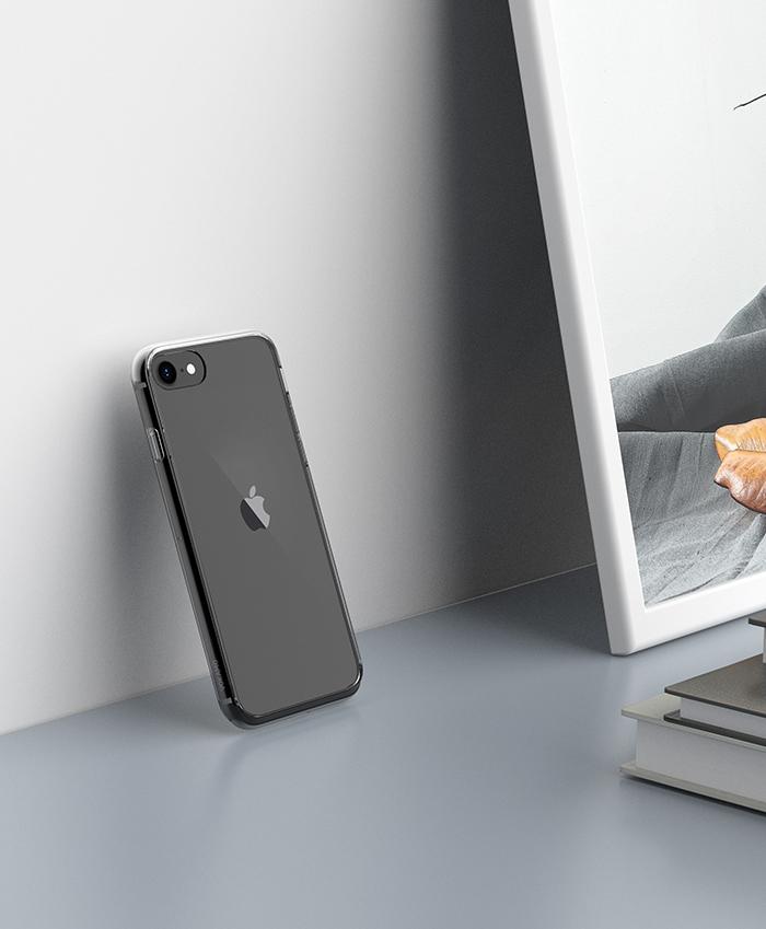 VOKAMO Sdouble iPhone SE第2代/8/7(4.7吋)專用 雙料抗震防刮透明裸機感手機殼-極致透明