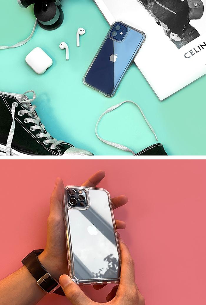 ABSOLUTE|LINKASEAIR iPhone 12 mini 5.4吋 軍規防摔康寧玻璃ADM專利抗黃保護殼-極透明