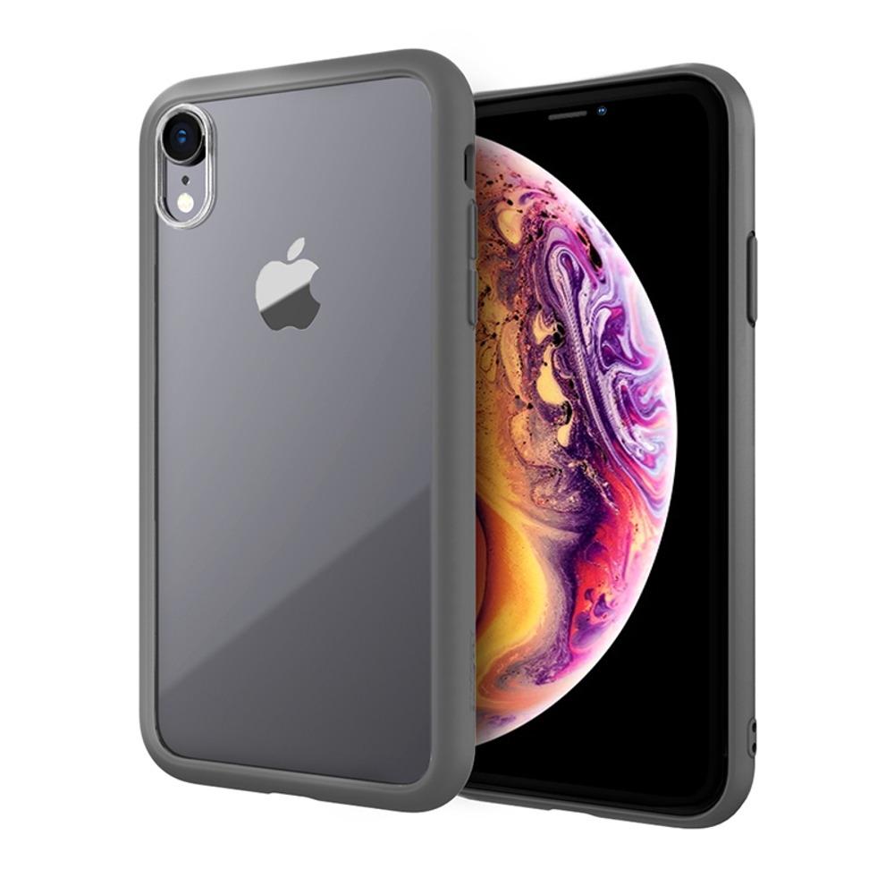 ABSOLUTE|LINKASE AIR 軍規防摔認證9H大猩猩康寧玻璃保護殼 iPhone XR(6.1吋)專用 -消光黑邊框