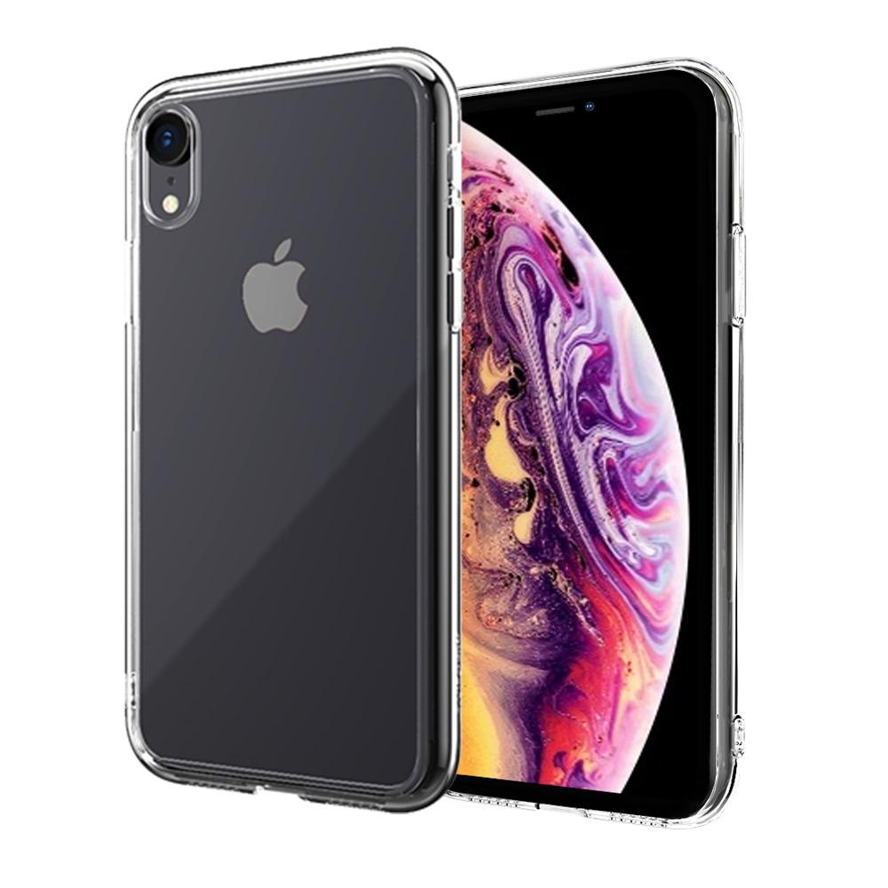 ABSOLUTE|LINKASE AIR 軍規防摔認證9H大猩猩康寧玻璃保護殼 iPhone XR(6.1吋)專用 -全透明邊框