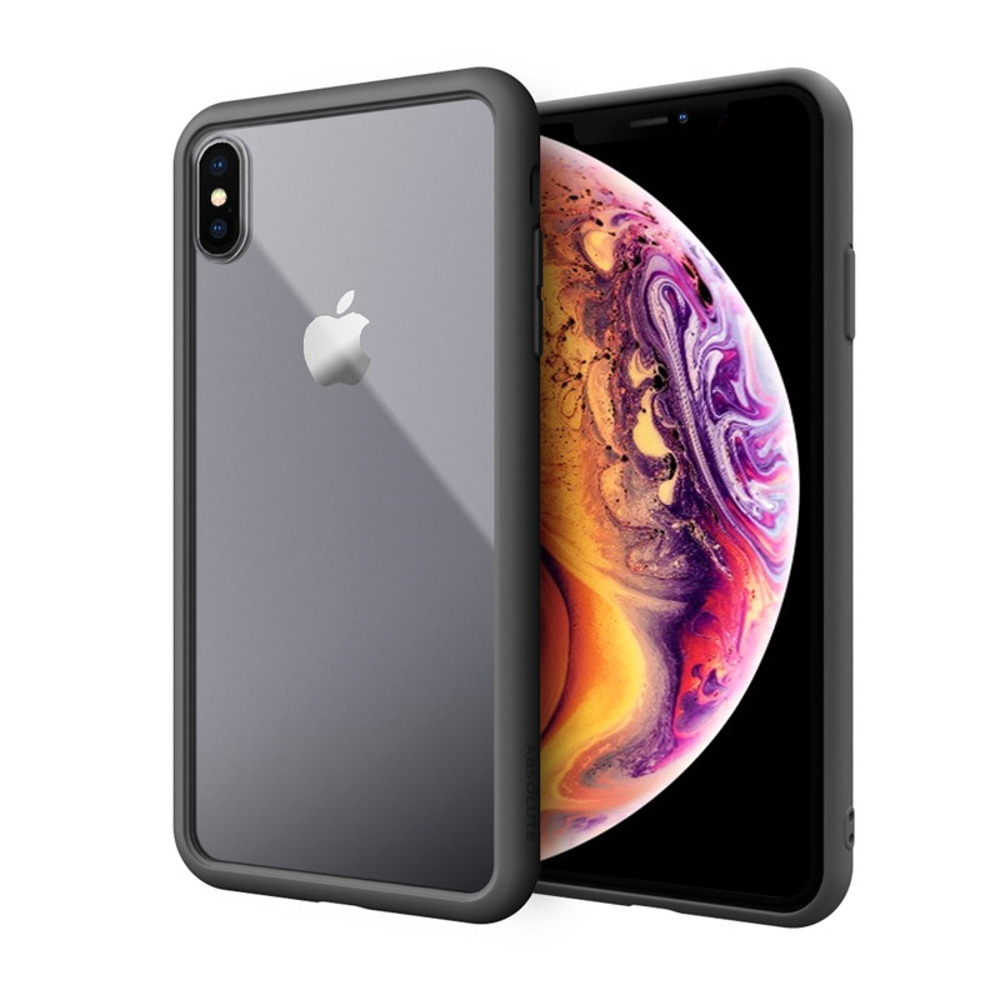 ABSOLUTE|LINKASE AIR 軍規防摔認證9H大猩猩康寧玻璃保護殼 iPhone XS Max(6.5吋)專用 -消光黑邊框