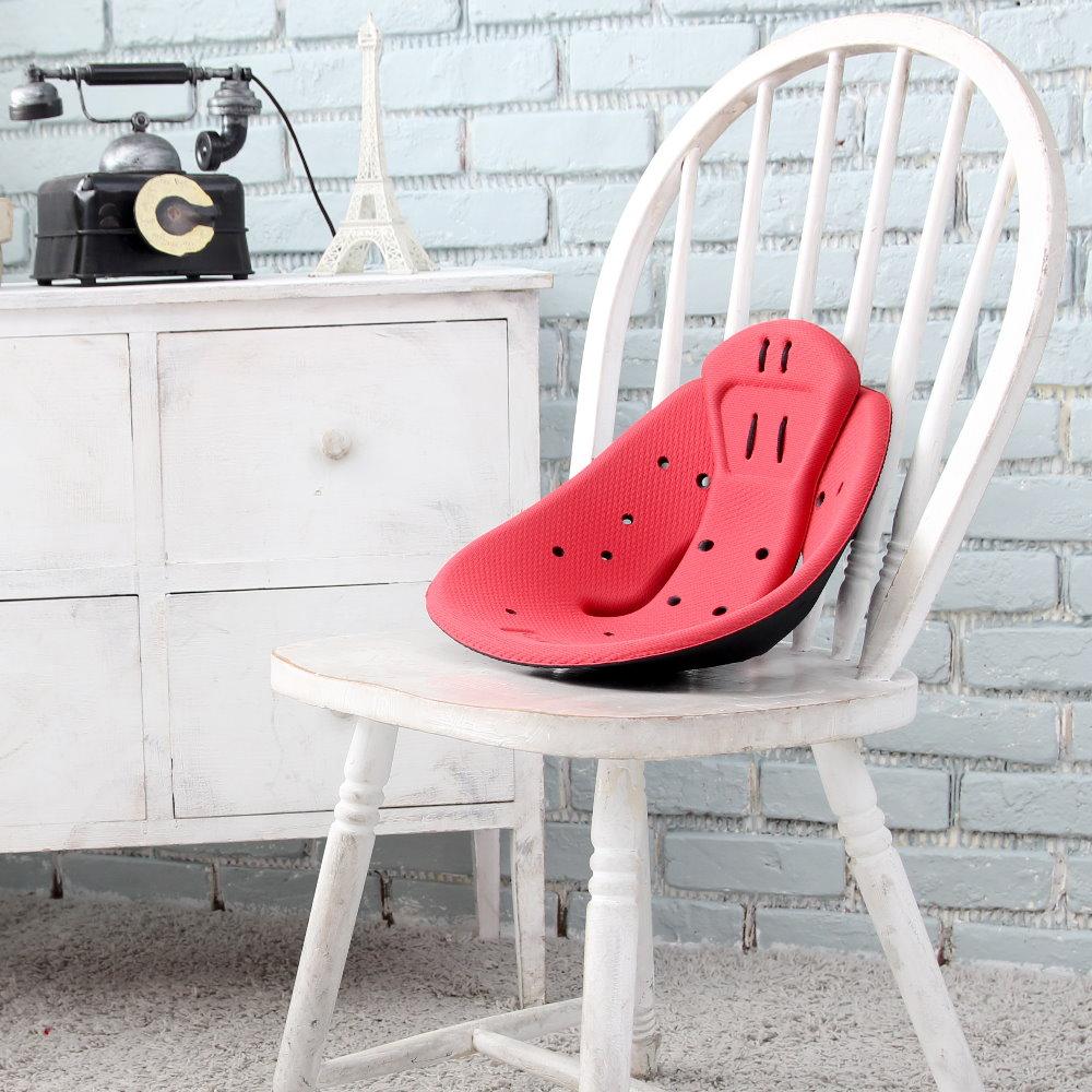KUONAO|專利張力式多段弧度可調端正坐姿智慧坐墊 (蜜桃粉)