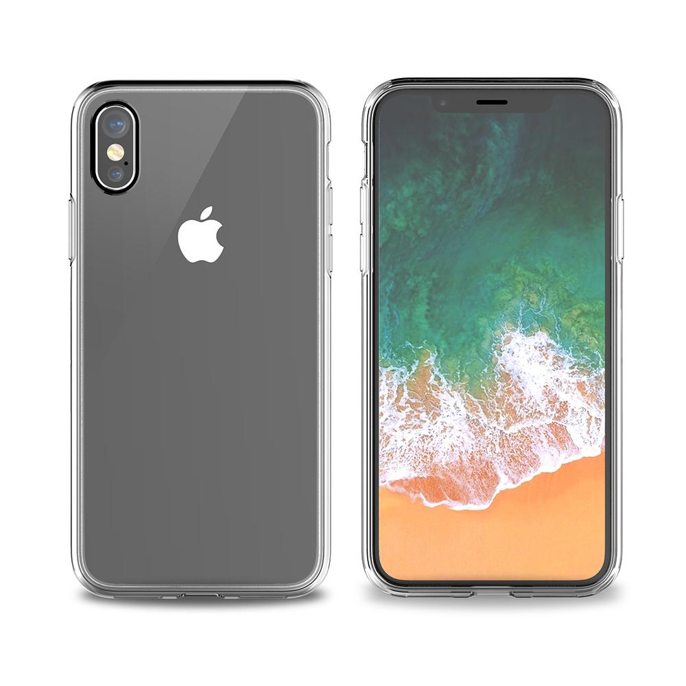 VOKAMO|Sdouble 雙料抗震防刮透明裸機感手機保護殼 iPhone XS/X (5.8吋) 專用 -全透明