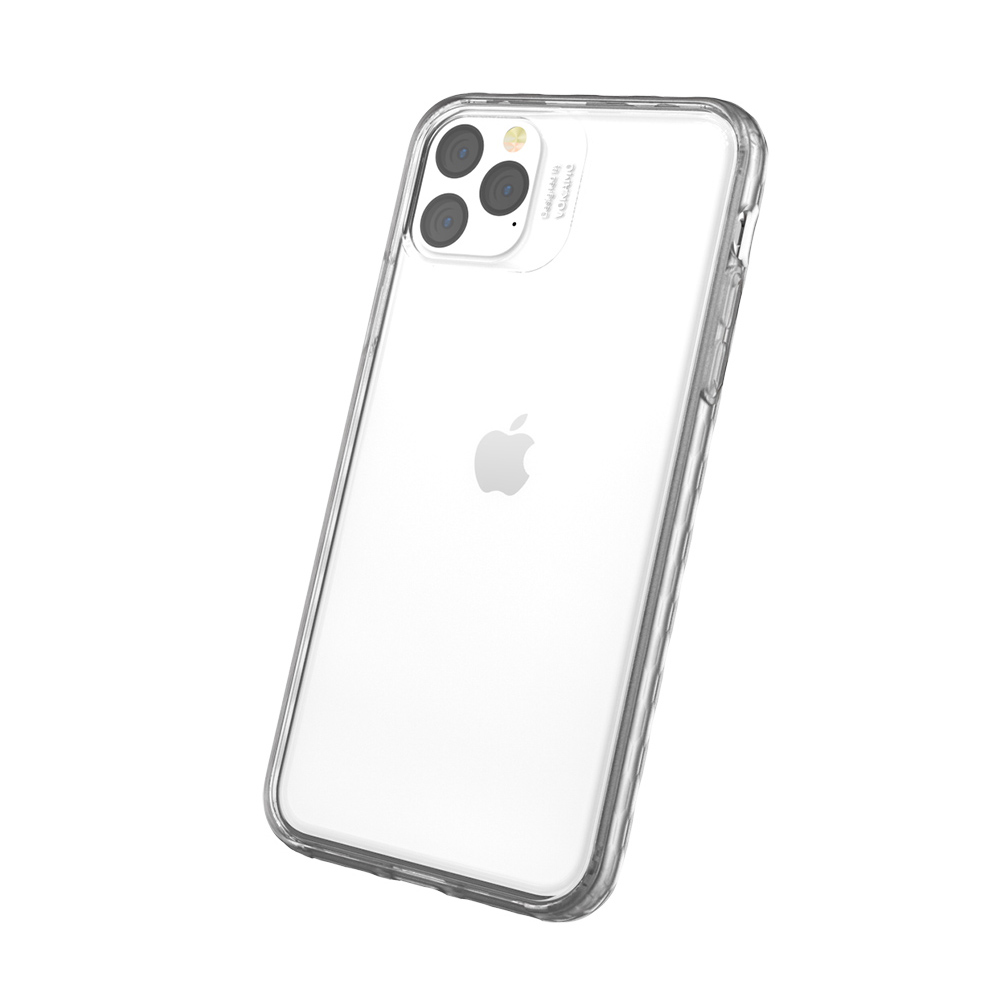 VOKAMO|Stect iPhone 11 Pro Max 6.5吋專用 美軍規2.5米防摔透明背蓋手機殼 防摔衣原料邊框-霧透