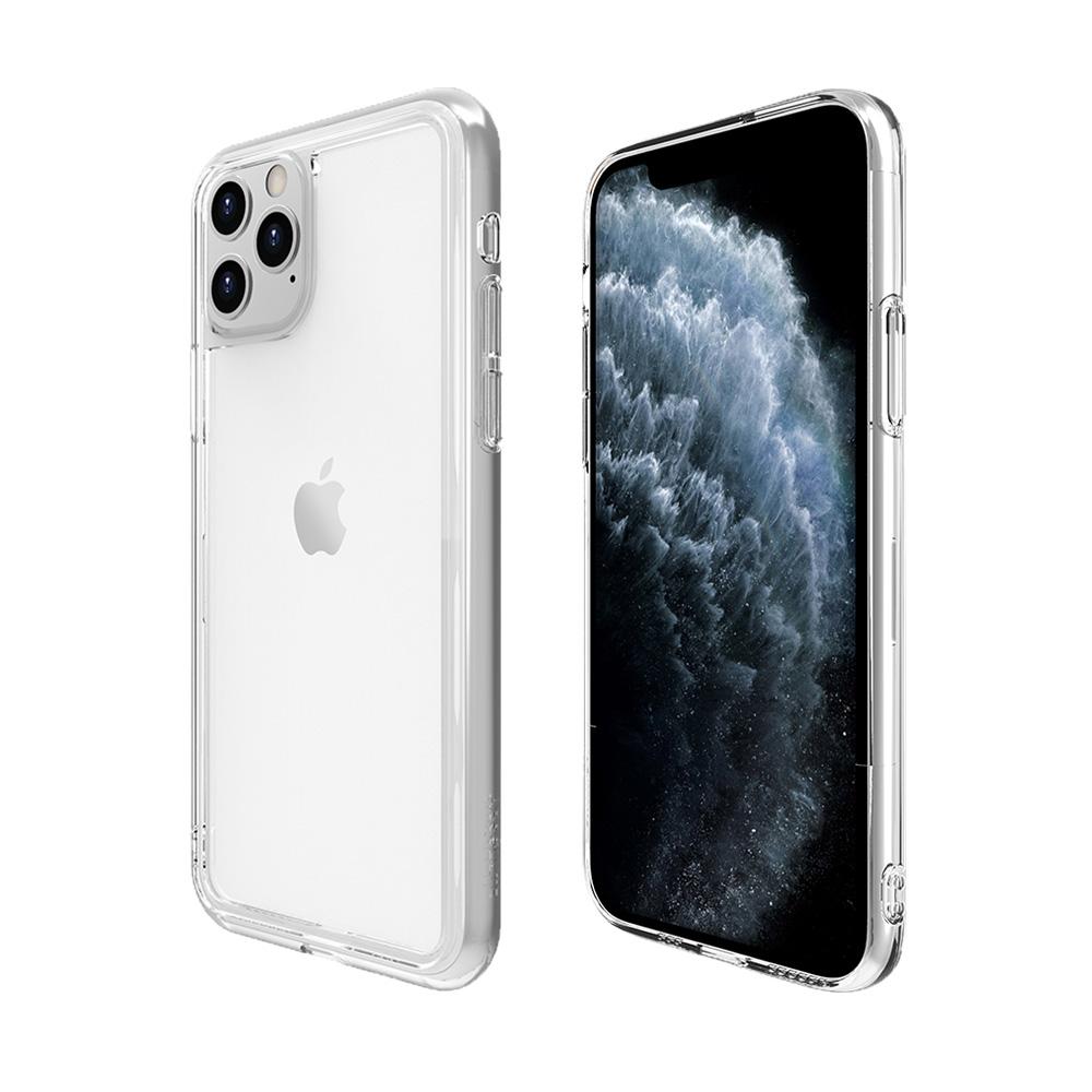 ABSOLUTE|LINKASE AIR iPhone 11 Pro 5.8吋專用 軍規防摔大猩猩康寧玻璃抗黃邊框保護殼-極透明